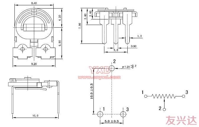 可调电阻RM085C-V1参考图纸