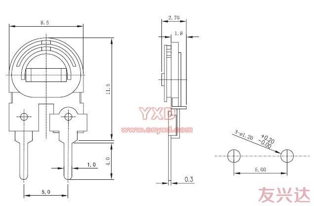 可调电阻RM085C-H3参考图纸