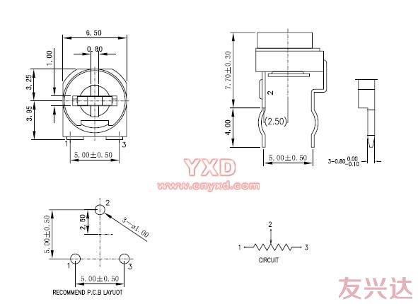 蓝白可调电阻RM065-V1规格书