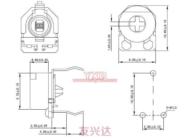可调电阻RM085G-V3参考图纸