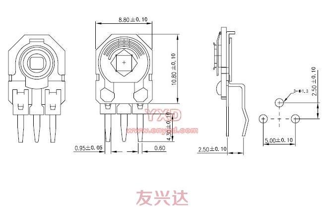 可调电阻RM085G-H5参考图纸