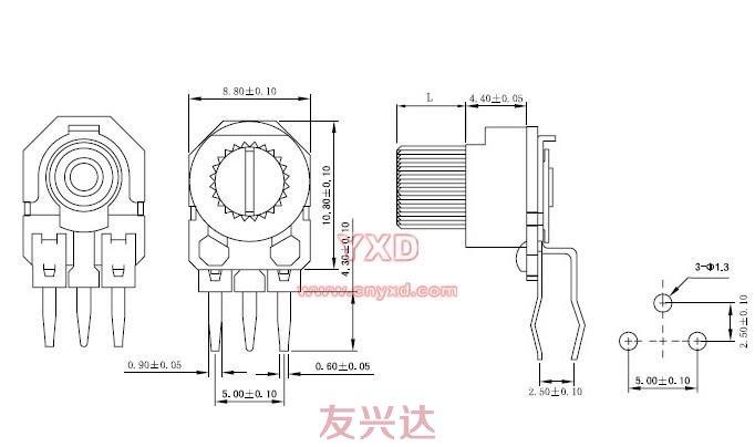 可调电阻RM085G-H3参考图纸