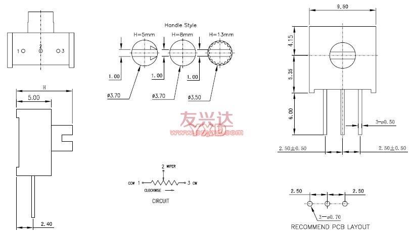 3386W可调电阻参考图纸