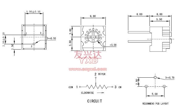 3323p可调电阻参考图纸