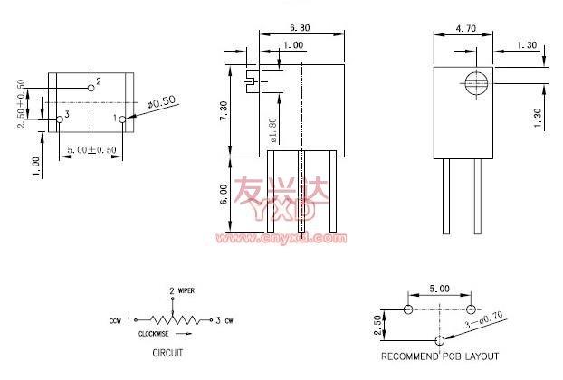 电位器3266x参考图纸