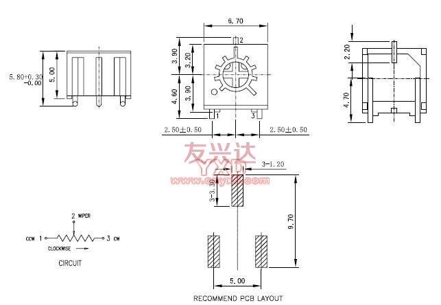 精密电位器3361p_深圳友兴达电子有限公司