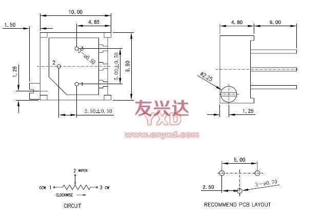 3296P可调电阻参考图纸