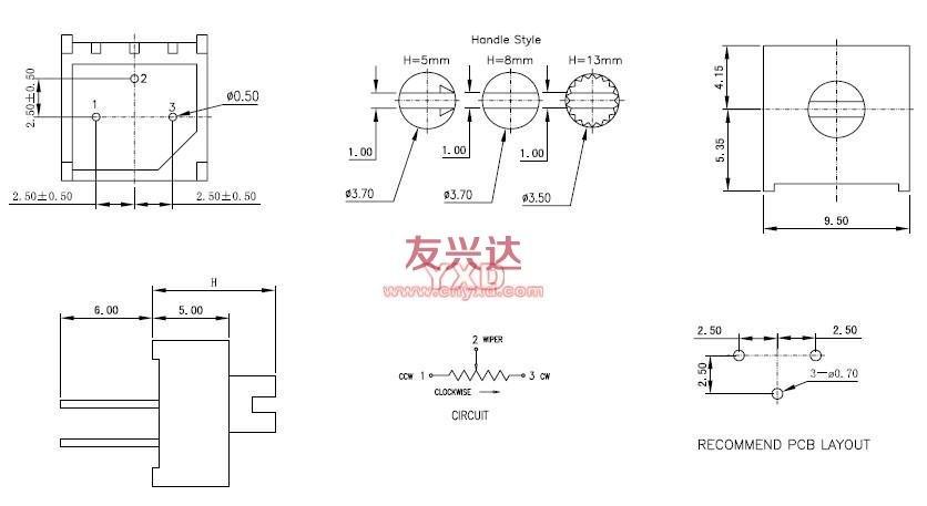 音量电位器接线图解析